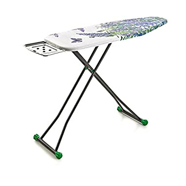 perilla Liana-B 4-Leg Heavy Duty Wide Ironing Board with Heat Resistant Cloth Cover