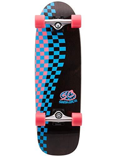 Santa Cruz Check Pro Cruzer Skateboard, Mehrfarbig, 22 x 74 cm