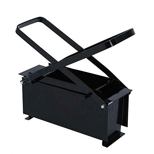 Brikett Drücken Papierbrikettpresse Stahl Papierpresse Recyclingpapierverdichter Papier Brikettpresse Presse 25,6 x 12,6 x 8,2 cm Schwarz