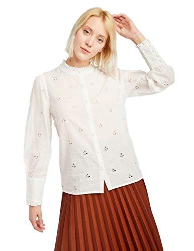 Naf Naf Camisa Manga Larga Crudo para Mujer 38 Beige