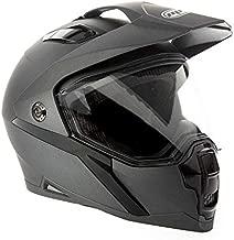 MMG Dual Sport Off Road Motorcycle Full Face Helmet Dirt Bike ATV Flip-Up Visor (Model 23) - Gray, Medium