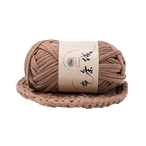 dukesong 1 Lump of Cloth Yarn Hand-Knit Woven Thread Thick Basket Blanket Braided DIY Crochet Cloth Fancy Yarn Light Coffee