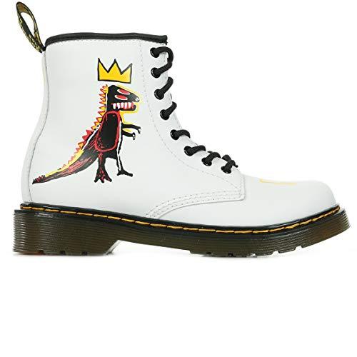 Dr. Martens Kid's Collection 1460 Basquiat (Little Kid/Big Kid) White Hydro Leather 3 UK (US 4 Big Kid) M
