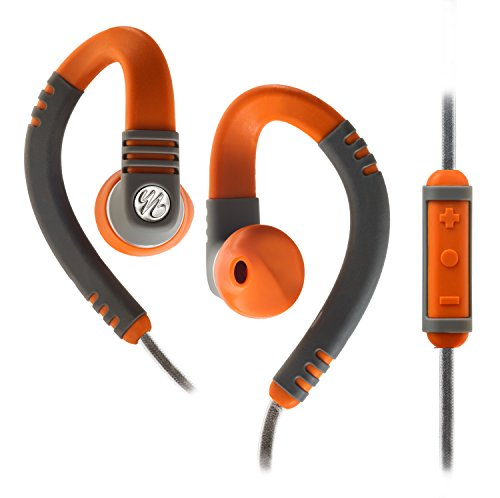 Yurbuds Explore Pro Gray/Orange Behind the Ear Headphones with 3-Button Mic