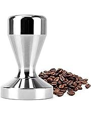 مقبض فولاذي 51 ملم لمطرقة لطحن حبوب القهوة إسبريسو مسطحة مع قاعدة ضغط لتغليف القهوة