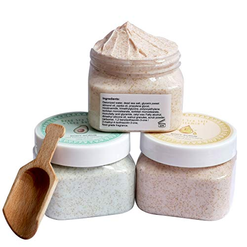 Ultra Exfoliating & Cleanse Body Scrub Gift Set, 3 Pack Natural Dead...