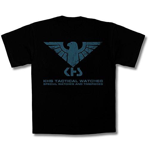 KHS T-Shirt Tactical Gear | T-Shirt (XL, Black | bleu) | KHS.TS4.XL
