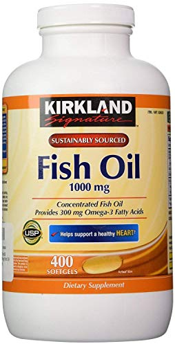 Kirkland Signature Fish oil 1000mg 400 Count