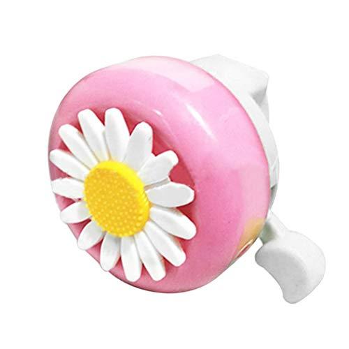 Sysow Fahrradglocke, Kinder Fahrradklingel, Fahrrad Ring mit Lauten Klaren, Süße Blumen Fahrrad Glocke für Kinderfahrrad Deko