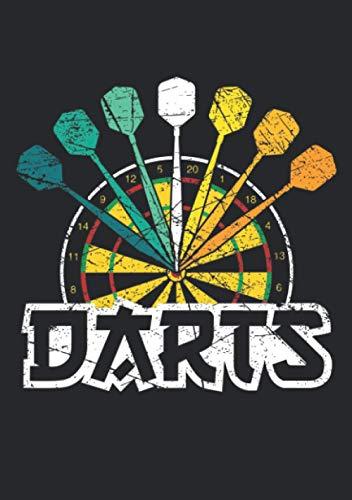 Notizbuch A5 dotted, gepunktet, punktiert mit Softcover Design: Retro Dart Dartspieler Design Dartpfeil Geschenk Dartscheibe: 120 dotted (Punktgitter) DIN A5 Seiten