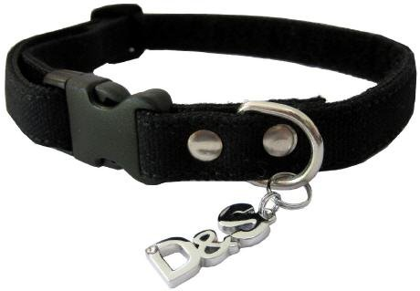 Nylon Halsband No1 mit auswechselbaren Sprüche-Tüchern - 33 bis 46cm - wählen Sie zwischen 10 verschiedenen coolen Sprüchen