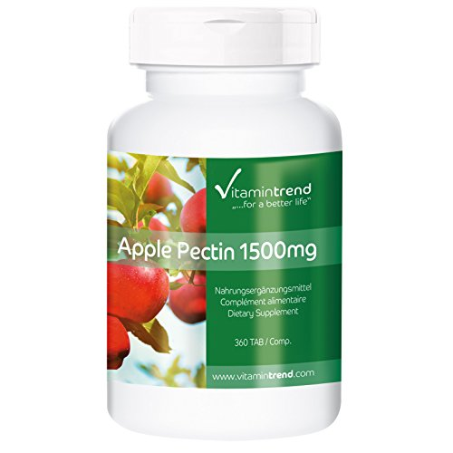 Pectina de Manzana 1500mg – Fibra natural – 300 Comprimidos – Beneficiosa para la flora intestinal y el sistema inmunológico