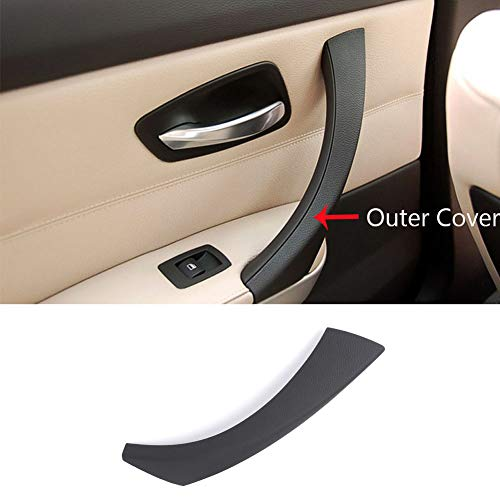 TTCR-II Door Handle Outer Covers Compatible with E90 E91 Black Left Front/Rear Interior Passenger Side Door Handle Outer Trim (Fits: 323 325 328 330 335 Sedan&Touring)