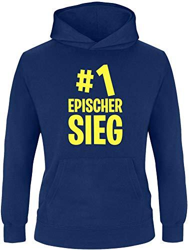 EZYshirt® #1 epischer Sieg Pullover Kinder | Jungen Kapuzenpullover | Hoodie