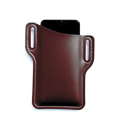 Funda con Forma de Lazo para teléfono móvil para Hombre para iPhone 12 11 Pro MAX Funda Universal Funda de Cuero con Clip para cinturón, Bolsa para teléfono, Monedero, Cartera