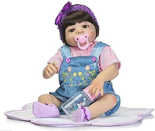 SHTWAD Simulation Reborn Baby-Puppe realistische volle Silikon handgemachte Kinder Geschenke Spielzeug 22,4 Zoll Ourdream