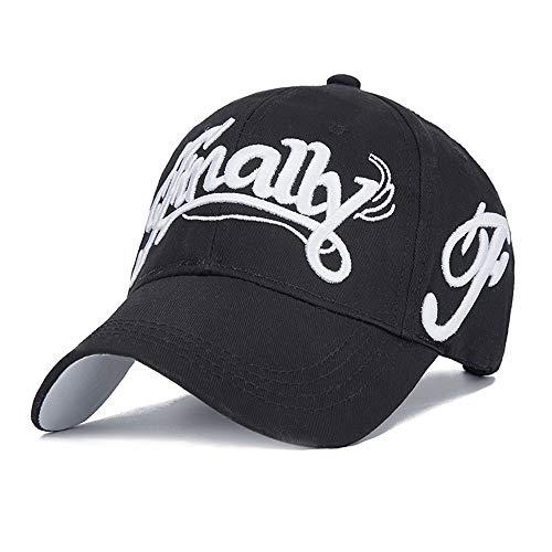 Baseball Caps Mode Brief Baseballmütze Unisex Netto Oberfläche Baumwolle Hip Hop Hüte Sommer Sonnencreme Sonnenhut, schwarz