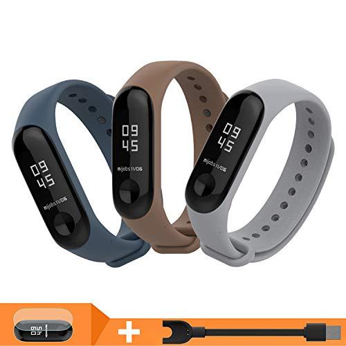 BDIG - Cinturino di ricambio per Xiaomi Mi Band 3, colorato e impermeabile, in morbido silicone, accessorio per Xiaomi Mi Band 3