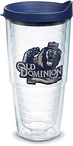 Tervis Old Dominion Monarchs Logo Tumbler with Emblem and Navy Lid 24oz, Clear