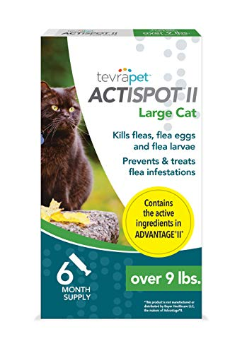 TevraPet Actispot II Flea Prevention for Cats- 9+ lbs, 6 doses