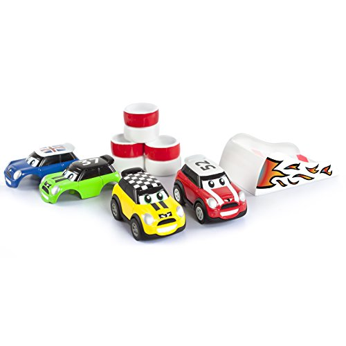 Go Mini – Stunt Set – Turbo Pullback – Voiture à Friction + Rampe