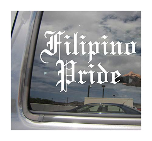 Right Now Decals - Filipino Pride - Old English Philippines Island Country Car Truck Helmet Laptop Surfboard Skateboard Auto Automotive Craft Laptop Vinyl Decal Store Window Wall Sticker 17133
