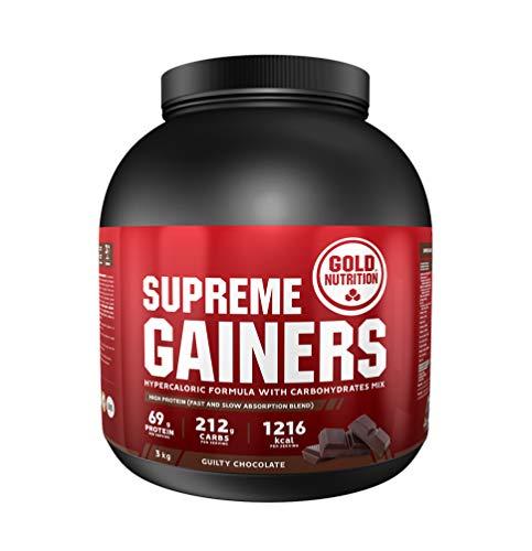 Goldnutrition Supreme Gainers 3kg, Chocolate, Aumento de Peso