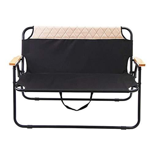 Silla Plegable de Camping Grande Silla Plegable portátil, al Aire Libre Multifuncional sillón cómodo Respaldo Playa Doble Silla reclinable Parque al Aire Libre
