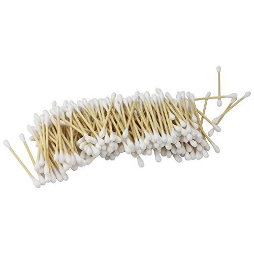 Bamboo Cotton Buds - Set of 1000 | Oreillettes biodégradables | Bourgeons organiques | Recyclable & Compostable | Écouvillons d'oreille en bois | Vegan-Friendly | M&W