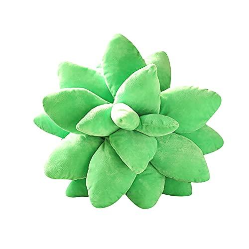 YAHAO Almohada Suculenta,Almohada de Felpa de Juguete de Felpa Suculenta Almohada Decorativa de Cactus para Amantes del Jardín o Verde Lindas Suculentas Estilo Nórdico