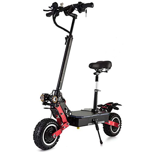 AAADRESSES Scooter Eléctrico para Adultos, Patinetes Eléctricos Plegables Rápidos 1600W Asientos, Ruedas Grandes, Velocidad Máxima de 65 km/h, para Viajes y Desplazamientos,60V18.2AH
