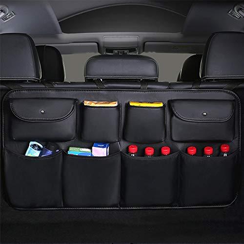 GTETUUES PU Leder Kofferraum Organizer verstellbare Rücksitz Aufbewahrungstasche Mehrzweck Oxford Automobile Seat Back Organizers Universaltasche