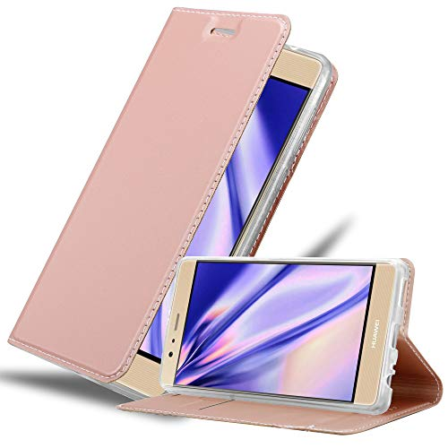 Cadorabo Book Case Works with Huawei P9 Plus in Classy ROSÉ Gold - with Magnetic Closure, Stand Function and Card Slot - Wallet Etui Cover Pouch PU Leather Flip