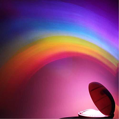 3 Standen Led Creatieve Kleurrijke Regenboog Nachtlampje Romantische Magische Regenboog Projectielamp Voor Kinderen Slaapkamer Home Decor