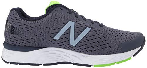 New Balance Men's 680 V6 Running Shoe, Pigment/RGB Green, 11 4E US 10