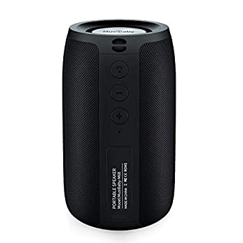 Bluetooth Speaker,MusiBaby Speaker,Outdoor Portable,Waterproof,Wireless Speakers,Dual Pairing Bluetooth 5.0,Loud Stereo,Booming Bass,1500 Mins Playtime for Home&Party Black