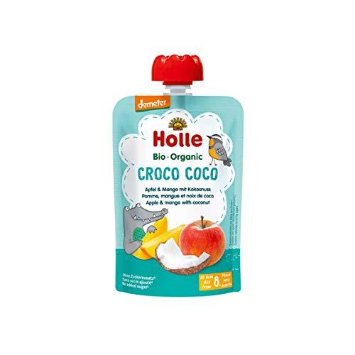 Holle - Quetschbeutel Croco Coco, Apfel & Mango mit Kokusnuss ab 8 Monaten, 100 g