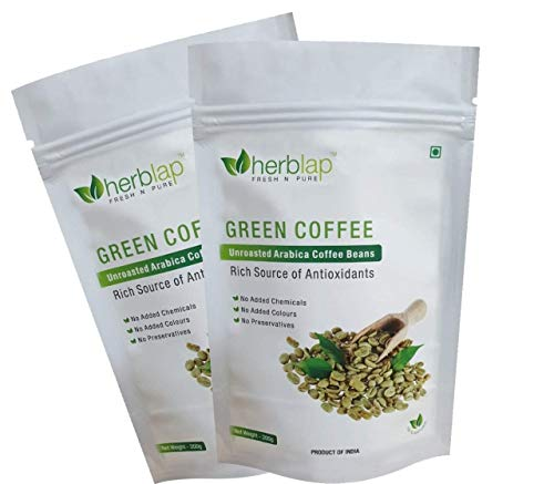 HERBLAP Green Coffee Beans Your Natural Immunity Booster and Weight Loss Partner: 200 G (Pack of 2)