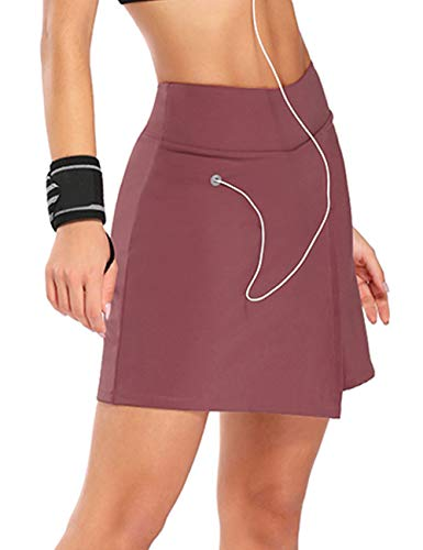 Athletic Skirts for Women Tennis Active Sports Skorts Boy Shorts with Ball Pockets Earphone Hole