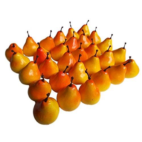 """Lorigun 30 stücke Künstliche Lebensechte Simulation 1,3""""Mini Birnen Gefälschte Früchte Fotografie Requisiten Modell"""