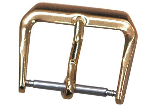 腕時計部品 革バンド用尾錠 単品 四角形 ゴールド 8mm アルミ製 DE-656AL-G8