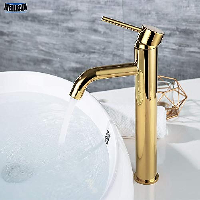 ZHUAPP Becken Wasserhahn Gold Waschbecken Wasserhahn Deck InsGrößetion Heien Und Kalten Kupferhahn