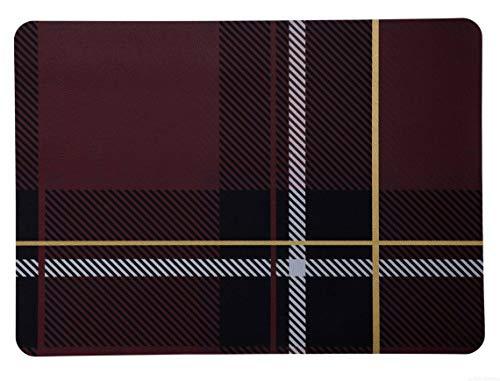 ASA Set de Table Tartan Plastique Rouge 46 x 33 cm