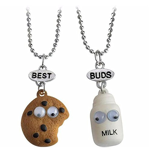 Bling Stars Best Buds Cute Milk and Cookie BFF Friendship...