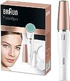 Braun FaceSpa851V 3-En-1 Épilateur Visage Et Brosse Nettoyante Avec Pile Supplémentaire