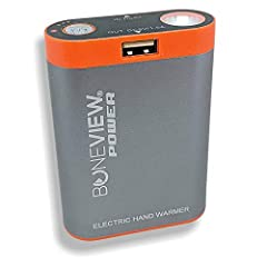 INSTANT Hand Warmer + Battery charging pack designed specifically for hunters, fisherman and outdoors people RUGGED Aluminum exterior case heats up to 115+ degrees Fahrenheit for up to 5 hours GREAT FOR warming hands, keeping in your pocket, or keepi...