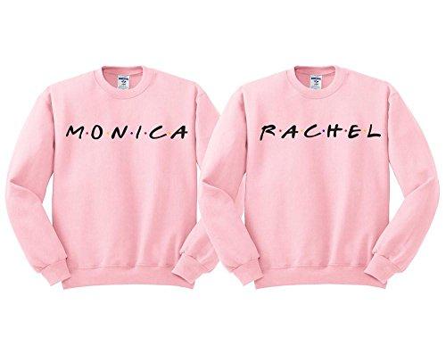 Monica and Rachel BFF Duo Sweatshirt Men's/Unisex Pink