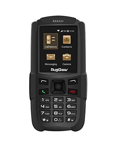 RugGear RG129 Outdoor-Handy ohne Vertrag - Wasserdicht, Staubdicht, Stoßfest, Verstärktes Gehäuse & Bildschirm, Dual-SIM
