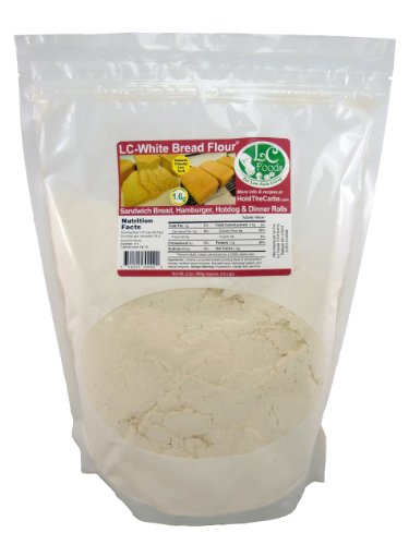 Low Carb White Bread Flour (2 LBS) - LC Foods - All Natural - No Sugar - Diabetic Friendly