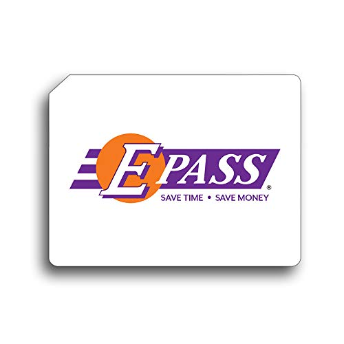 E-PASS Electronic Toll Sticker; Prepaid toll Program, Works on All Roads in FL, GA, NC